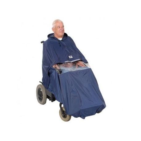 Chubasquero para sillas de ruedas electrónicas