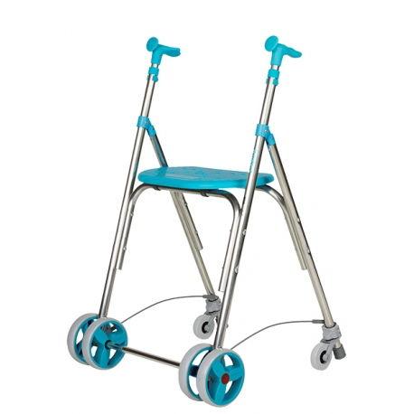 andador aluminio kamaleon con ruedas traseras exterior color esmeralda