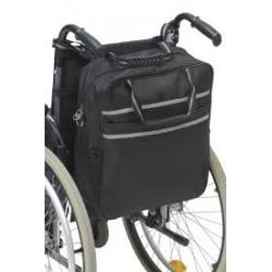 Bolsa auxiliar impermeable para silla de ruedas color negro