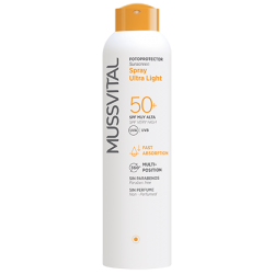 PROTECTOR SOLAR MUSSVITAL 50+ SPRAY ULTRA LIGHT 150 ML