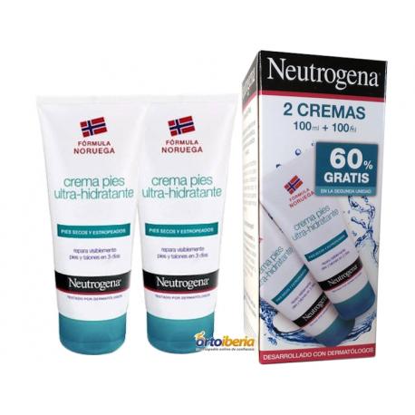 crema de pies ultrahidratante neutrogena pack oferta