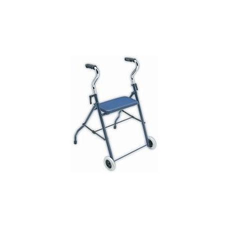 Andador básico con asiento y ruedas D85