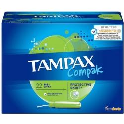 TAMPÓN TAMPAX COMPAK SUPER 22 TAMPONES