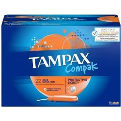 TAMPÓN TAMPAX COMPAK SUPER PLUS 22 TAMPONES