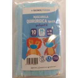 MASCARILLAS QUIRÚRGICAS INFANTILES 10 UNIDADES